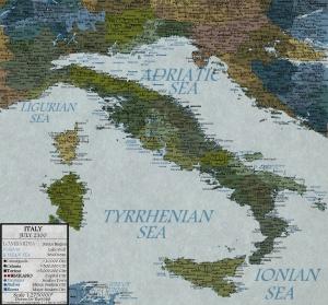 Cartina Italia 2100