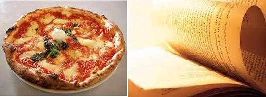 pizza e libro