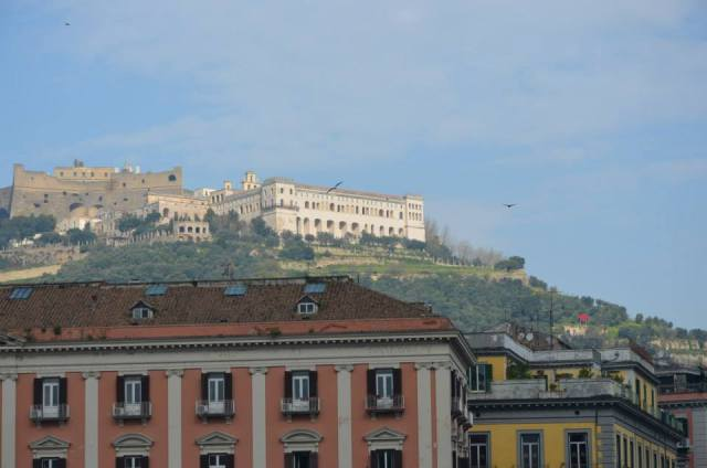 "..The ""Certosa of San Martino"" look the city from the above"