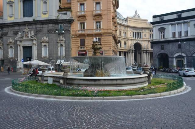 San Ferdinando's Square with the fountain of the artichoke