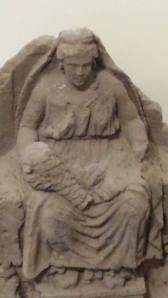Una delle Matres conservate nel Museo Campano
