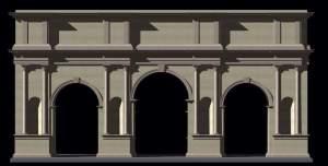 Ricostruzione 3d dell'Arco