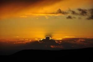 Il tramonto dal borgo di Sasso